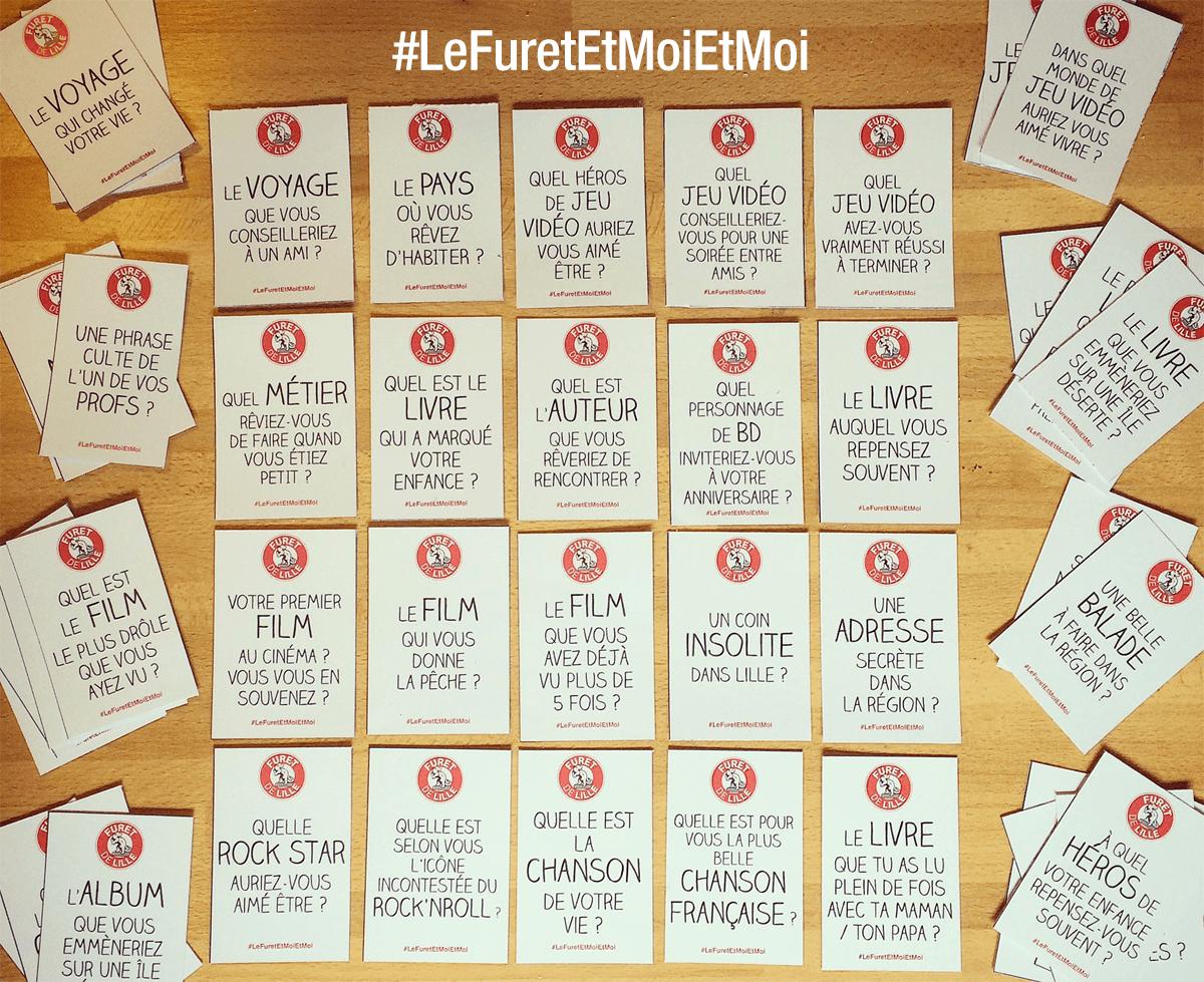 Choisissez une question, on attend vos réponses sur Instagram avec le hashtag #LeFuretEtMoiEtMoi