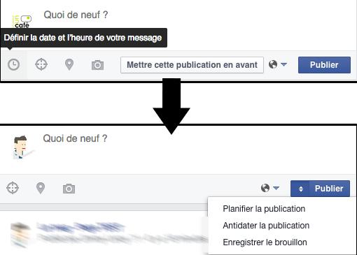 Planifier une publication facebook